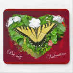 Valentine Tiger Swallowtail Butterfly Items Mouse Pad