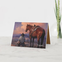 Valentine To A Cowgirl Holiday Card