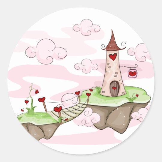 Valentine Tower Classic Round Sticker