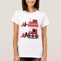 Valentine Tractor Cuttable Design T-Shirt
