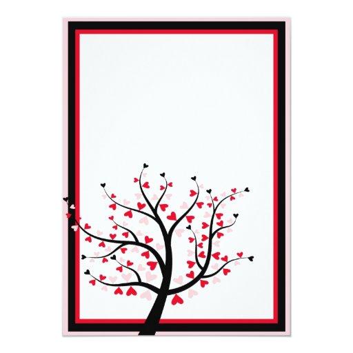 Valentine Tree Invitation