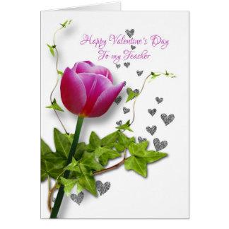 valentine tulip for  teacher card