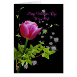 valentine tulip for wife greeting cards