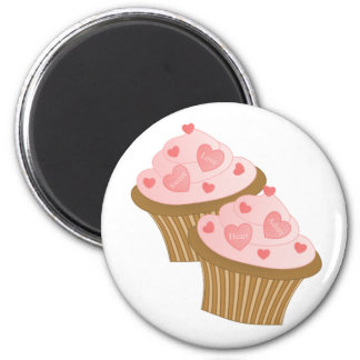 Valentine Two Cakes 2 Inch Round Magnet