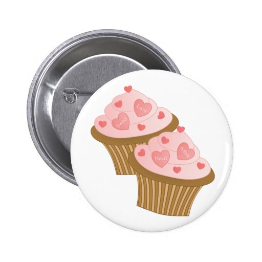 Valentine Two Cakes Buttons