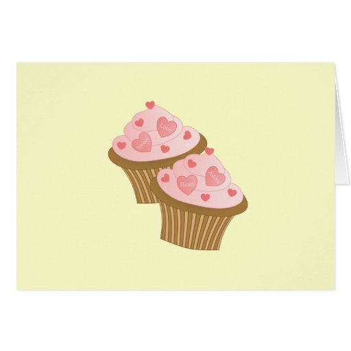 Valentine Two Cakes Card