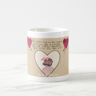 Valentine Two Hearts & Love Verse Coffee Mug