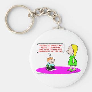 valentine underwear school keychains