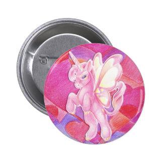 Valentine Unicorn Button