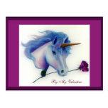 Valentine Unicorn Postcards