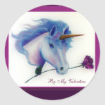 Valentine Unicorn Stickers