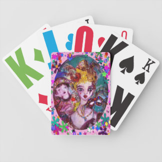 VALENTINE VENETIAN MASQUERADE MASKS AND  CONFETTI BICYCLE PLAYING CARDS