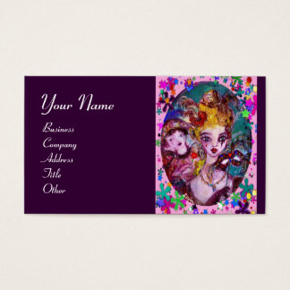 VALENTINE VENETIAN MASQUERADE MASKS BUSINESS CARD