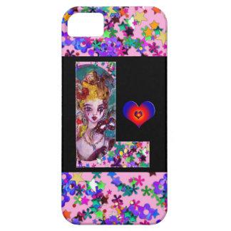 VALENTINE VENETIAN MASQUERADE MONOGRAM F LETTER iPhone SE/5/5s CASE