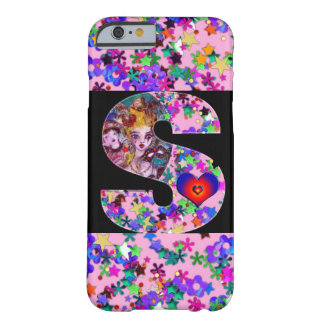 VALENTINE VENETIAN MASQUERADE MONOGRAM S LETTER BARELY THERE iPhone 6 CASE