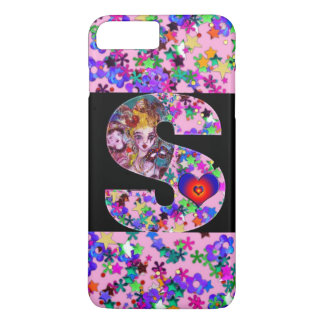 VALENTINE VENETIAN MASQUERADE MONOGRAM S LETTER iPhone 7 PLUS CASE