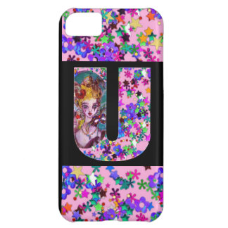 VALENTINE VENETIAN MASQUERADE MONOGRAM U LETTER COVER FOR iPhone 5C