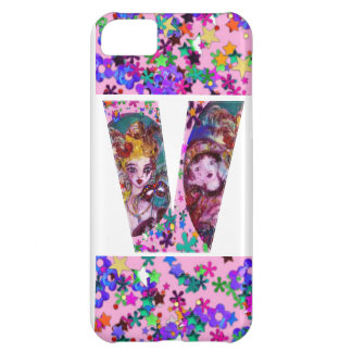 VALENTINE VENETIAN MASQUERADE MONOGRAM V LETTER CASE FOR iPhone 5C