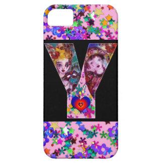 VALENTINE VENETIAN MASQUERADE MONOGRAM Y LETTER iPhone SE/5/5s CASE