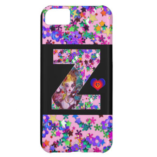 VALENTINE VENETIAN MASQUERADE MONOGRAM Z LETTER CASE FOR iPhone 5C
