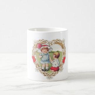 Valentine Vintage Children Coffee Mug