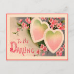Valentine Vintage Heart Holiday Postcard