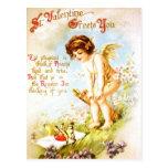 Valentine Vintage PostCard Love Letter Cupid Angel
