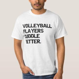 valentine: volleyball players cuddle better tshirt