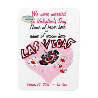 Valentine Wedding Announcement Las Vegas Pink Magnet