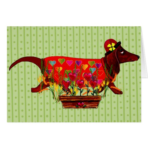 Valentine Weiner Dog Greeting Card