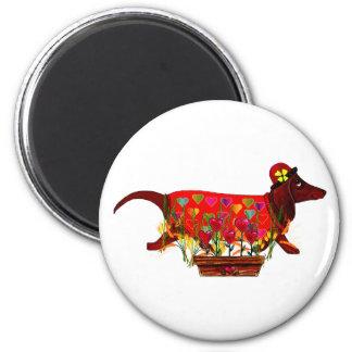 Valentine Weiner Dog Magnet