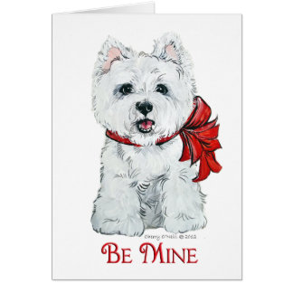 Valentine Westie - Be MIne Card