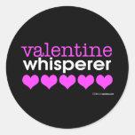 Valentine Whisperer Round Sticker