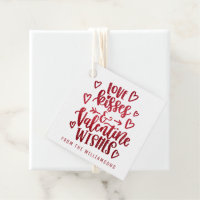 Valentine Wishes | Valentines Favor Tags