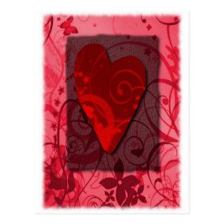 VALENTINE WITH SWIRLS & HEART POSTCARD