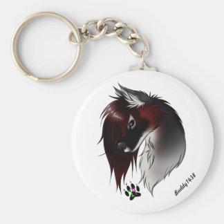 Valentine (wolf) keychain