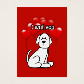 Valentine Wuf You Puppy Dog Kids Pack Business Card
