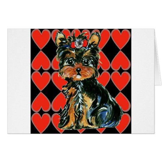 Valentine Yorkie Poo Card