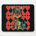 Valentine Yorkie Poo Mousepads