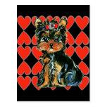 Valentine Yorkie Poo Post Card