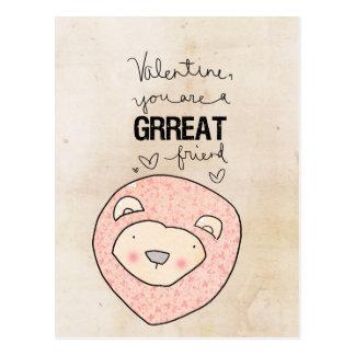 Valentine you are a Grreat friend by VOL25 Postcard