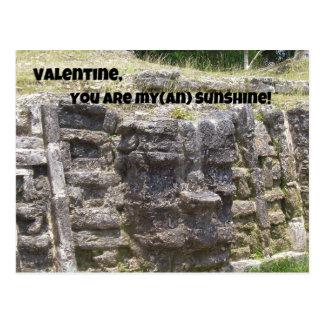 Valentine, You are My(an) Sunshine! Postcard