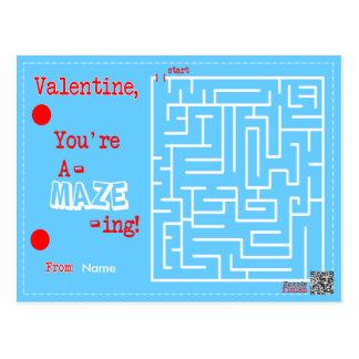 Valentine You're A-MAZE-ING Postcard