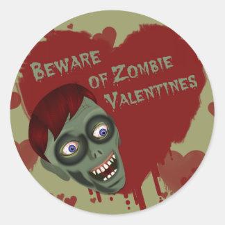 Valentine Zombies Sticker