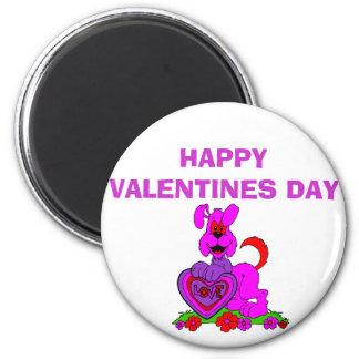 valentinedog, HAPPY VALENTINES DAY Fridge Magnets