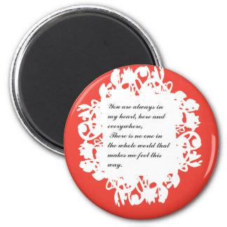 valentines-12 imán redondo 5 cm