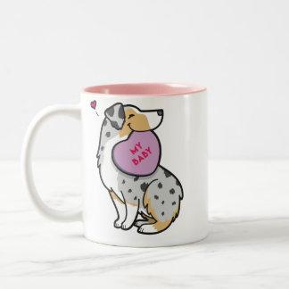Valentine's 2015-Australian Shepherd-TP Blue Merle Two-Tone Coffee Mug