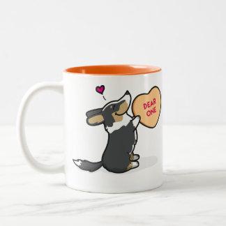 Valentine's 2015-Cardigan Corgi-Black Coffee Mug