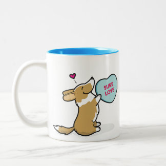 Valentine's 2015 Cardigan Corgi-Red Coffee Mug