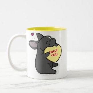 Valentine's 2015-French Bulldog-Black Coffee Mug
